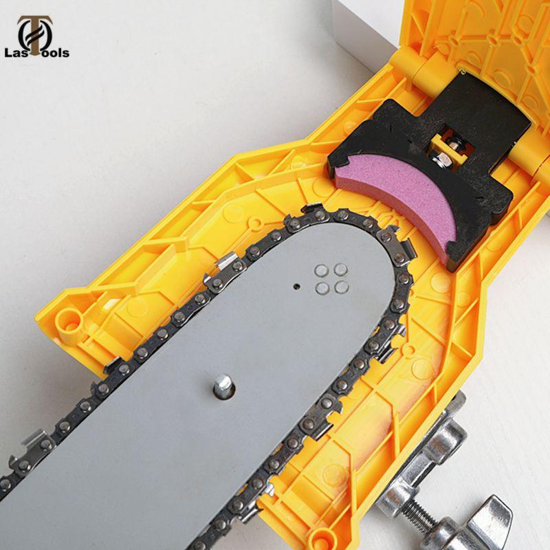 Tronçonneuse affûteuse de dents tronçonneuse Portable Durable facile puissance forte barre-Mount meulage rapide tronçonneuse chaîne affûteuse outil
