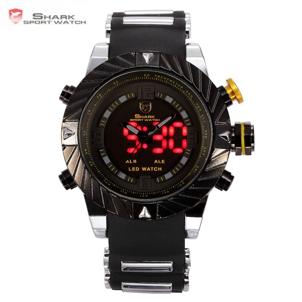 Luxury Goblin Shark Sport Watch Mens Outdoor Fashion Digital LED Multifunction Waterproof Wrist Watches Relogio Masculino /SH168