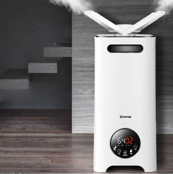 LK165 Low Noise Air Mist Humidifier 13L/D All Direction Nozzle Activated Carbon Air Humidifier Supermarket Vegetable Fresher