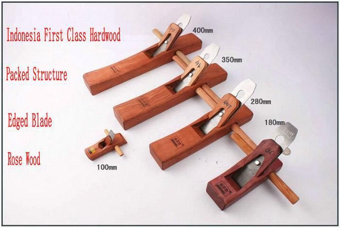 Five Different Sizes/LOT Luxury Rose Wood Workmanship Hand Tool Woodworking Plane Wood Plane Smoother Household DIY Tool