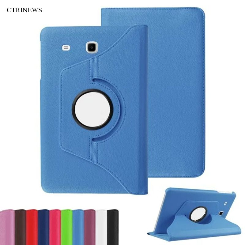 CTRINEWS 360 Degree Rotating Cover For Samsung Galaxy Tab E 9.6 T560 T561 PU Leather Stand Case For T560 T561 Tablet Cover Coque