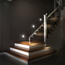 Coquimbo LED sensor de luz nocturna inducción doble PIR infrarrojo sensor de movimiento lámpara magnético infrarrojo lámpara de pared gabinete escaleras Luz