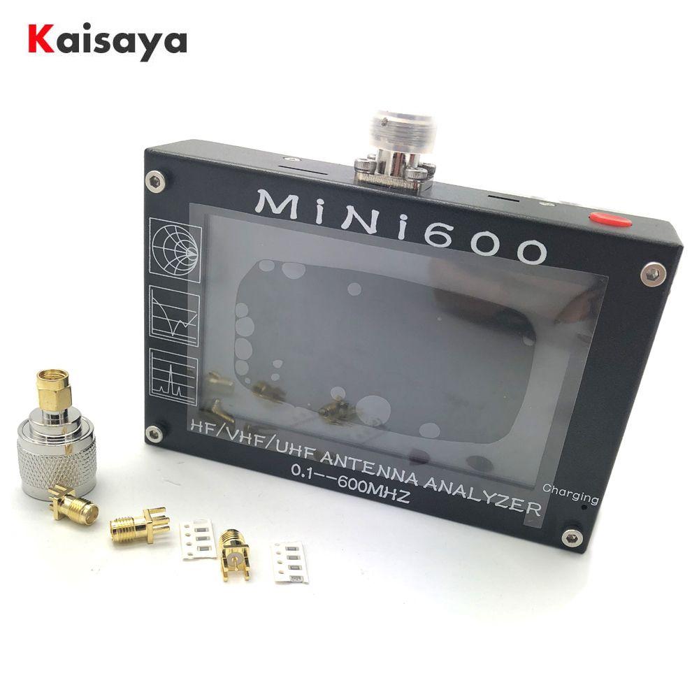 Neue ankunft Mini600 5 V/1.5A HF VHF UHF Antenne Analyzer 0,1-600 MHz SWR Meter 1,0- 1999 für Radio C6-007