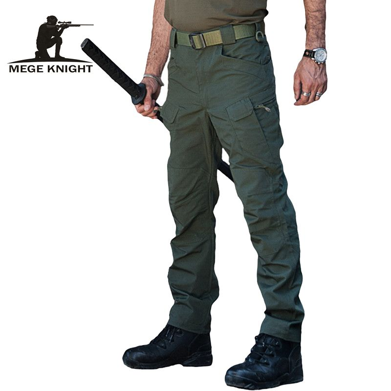 Mege военные брюки Тактический IX7 армейские брюки-карго, ripstop водоотталкивающей армейские брюки