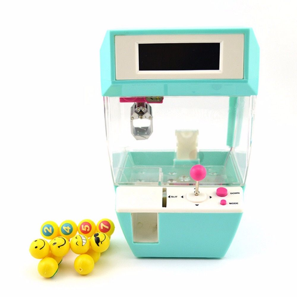Coin Operated Candy Grabber Doll Candy Catcher Crane Machine + Alarm Clock Board Game Party Fun Toys for Children Christmas Gift