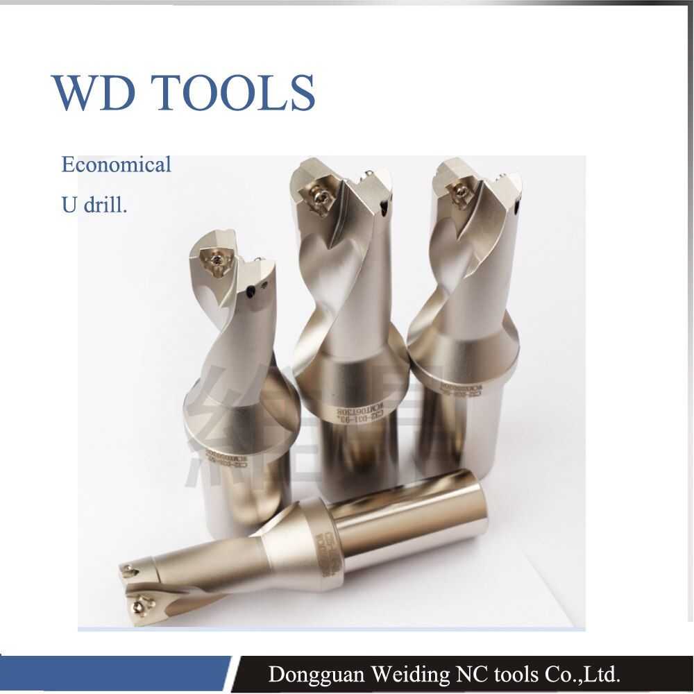 Manufacturer 3X diameter Indexable U drills for carbide inserts, U fast drills with coolant range 42-57mm