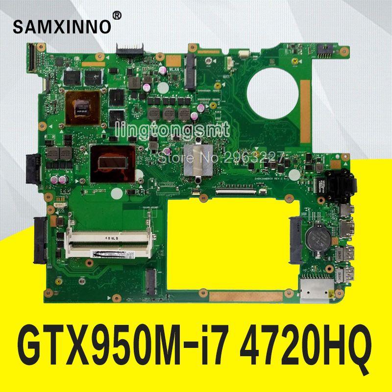 N751JX MB. _ 0 M/I7-4720HQ/ALS GTX950M 2G REV2.0 Mainboard 90NB0840-R03200 Für Asus N751JX N751J N751JK Laptop Motherboard test ok