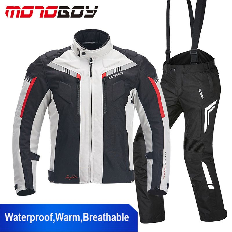 MOTOBOY Waterproof Motorcycle Jacket Motocross Cold-proof Clothing Pants 600D Oxford Breathable Warm Suits Motorcycle Jacket