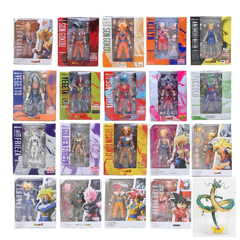 11.5-17cm Dragon Ball Z Figure SHFiguarts Super Saiyan Son Goku trunks Vegetto Vegeta Frieza gohan Krillin Lazuli figure toy SHF