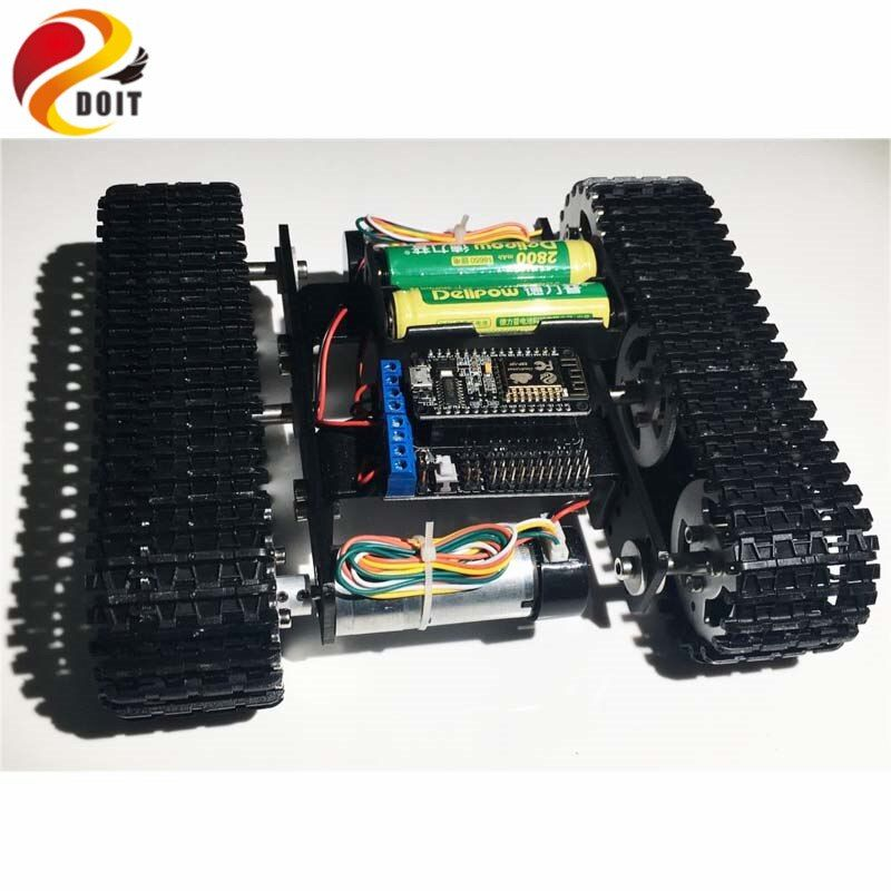 DOIT mini T100 Sur Chenilles Réservoir De Voiture Châssis avec Nodemcu Développement Kit pour Robot Concurrence DIY RC Jouet