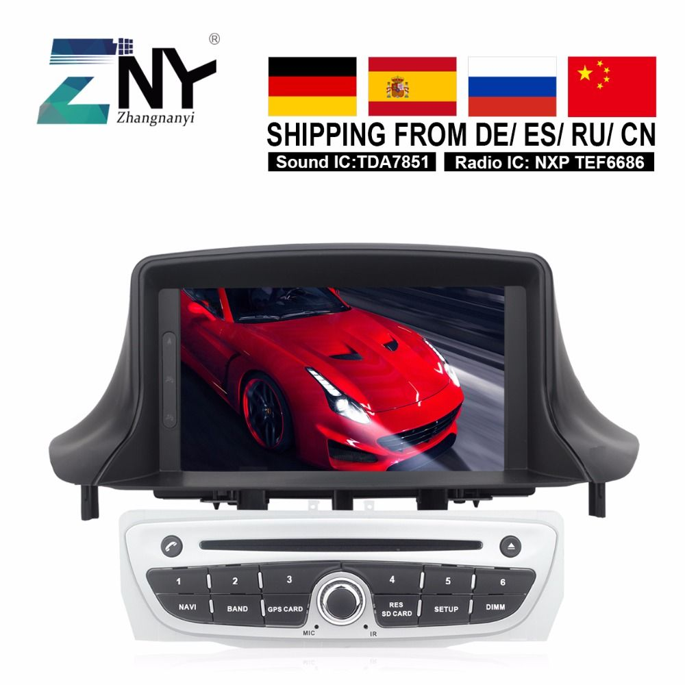 4GB RAM Autoradio For Megane 3 2009 2010 2011 2012 2013 2014 Fluence Android 8.0 Car Stereo FM DVD GPS Navigation IPS Screen