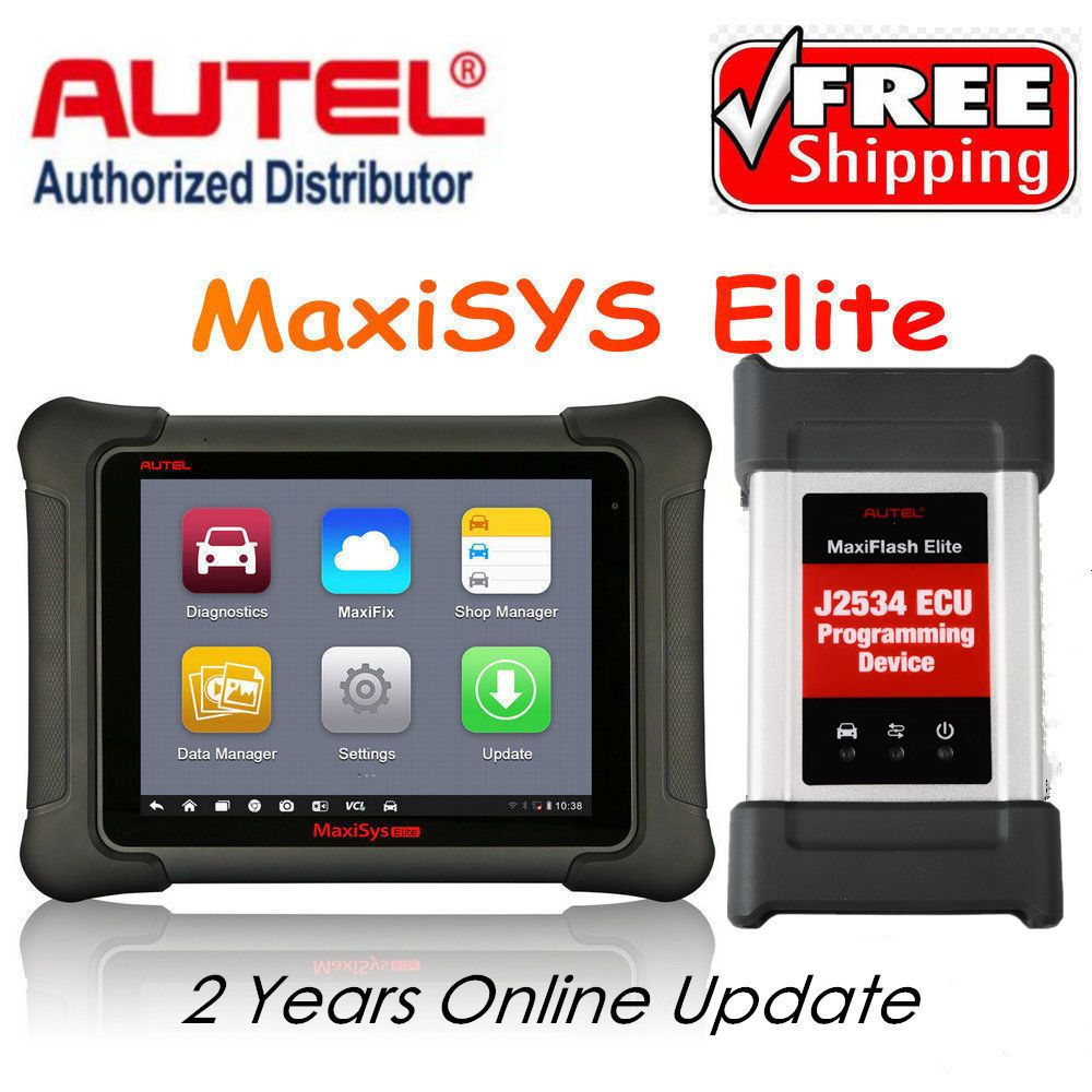 AUTEL MaxiSys Elite Car Diagnosis J2534 ECU Programing tool Faster Than MS908p 908 pro Free Update 2 Years On Autel Website