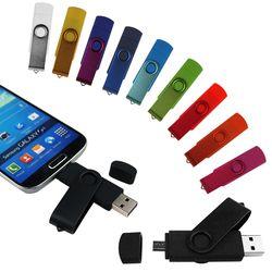 OTG USB Flash Drive 64 gb 32 gb Pen Drive 8 gb 16 gb 4 GB USB 2.0 Pendrive Clé USB Flash Drive pour Android Smartphone personnalisé logo