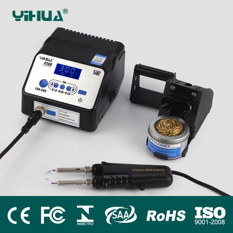 938D SMD Soldering Tweezer Repair Rework Station Electric heating pliers Constant temperature heating tweezers soldering station