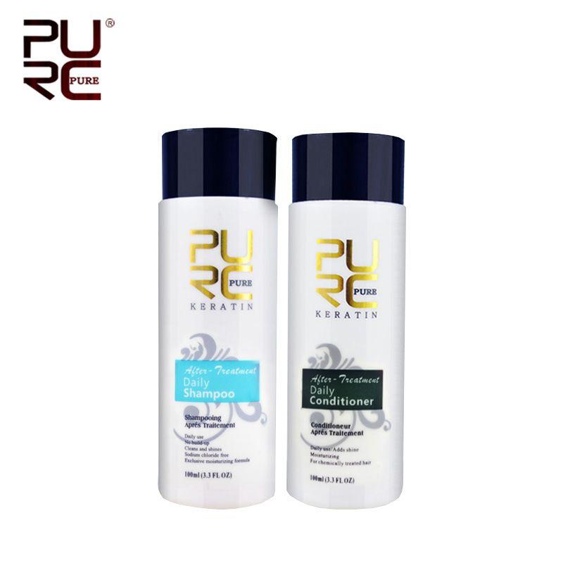 PURC shampooing et revitalisant capillaire produits de soins capillaires professionnels 2 pièces/ensemble utilisation pour traitement après kératine livraison gratuite
