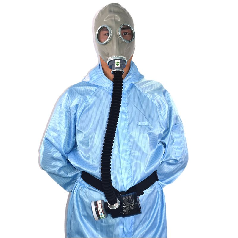 Supply Air Respirator Air Circulator Electric Military Gas Mask With No.3 Carbon 0.5M Tube Rechargeable Blower For Organic Gas