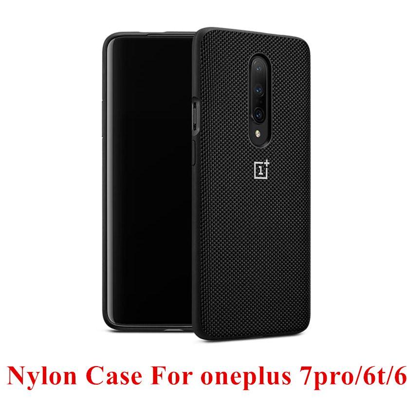 Housse de protection en Nylon de marque de luxe pour Oneplus 7 pro 7pro 6 t 6 étuis et housses Design officiel