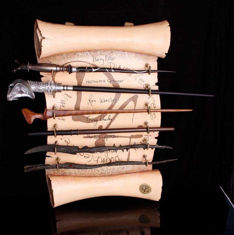 100pc Newest Total Over 60 Style Harry Potter /Dumbledore/Lucius Malfoy /Luna/Hermione Colsplay Metal Core Magic Wands