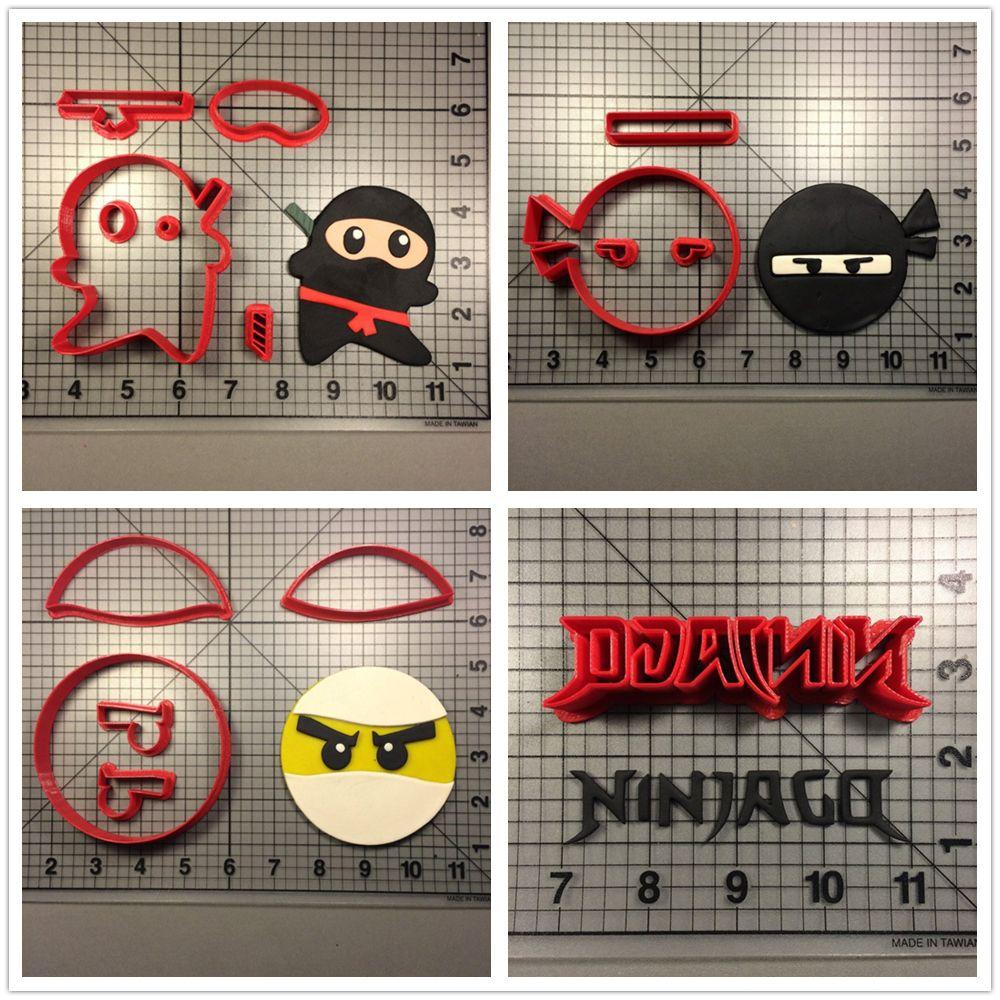 Индивидуальный заказ 3D печатных знаменитой игры Ninjago характер Фондант Кекс Топ Формочки набор торт резак для украшения инструмент