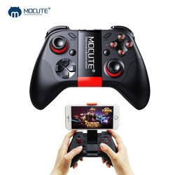 Mocute 054 Bluetooth Gamepad Crystal Button Android Joystick PC Wireless Remote Controller Game Pad for Smartphone for VR TV BOX