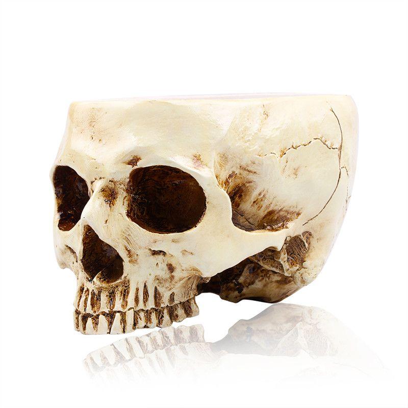 P-Flame Animal Skull Big hoe Resin Sculpture fFower Pot RFuit Bowl Storage Tank Family Decoration Crafts