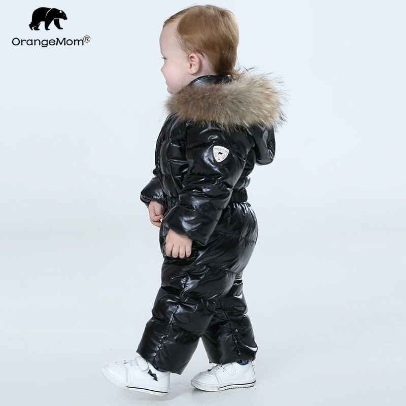 Orangemom official store baby winter jumpsuit , warm outerwear & coats jacket for girls , baby clothing boys parka snow wear