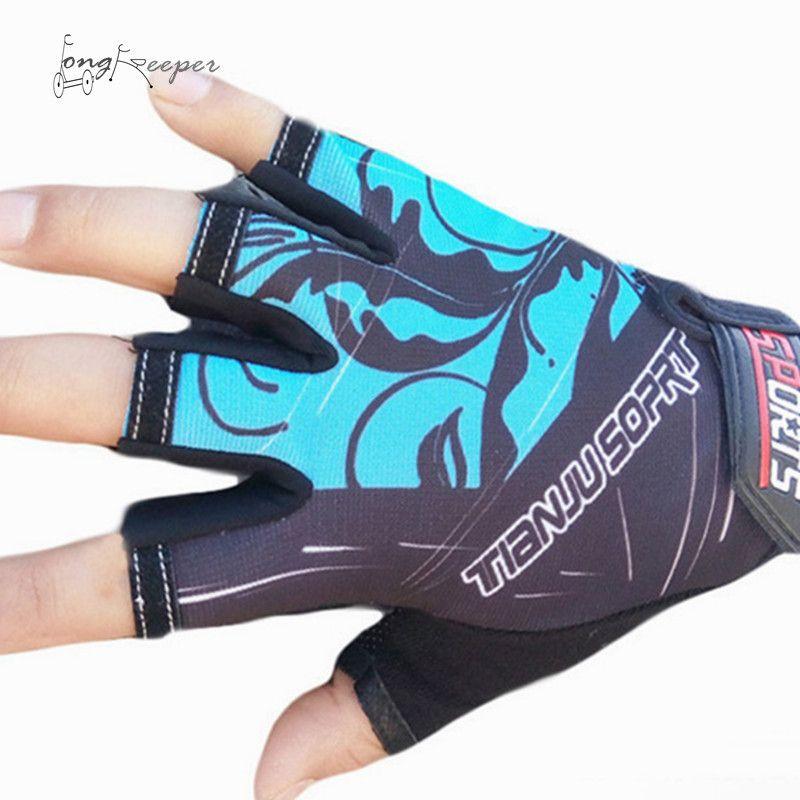 LongKeeper Sport Handschuhe Männer Frauen Radfahren Handschuhe Half Finger Sommer Herbst Handschuhe Rutschfeste Outdoor Radfahren Guantes