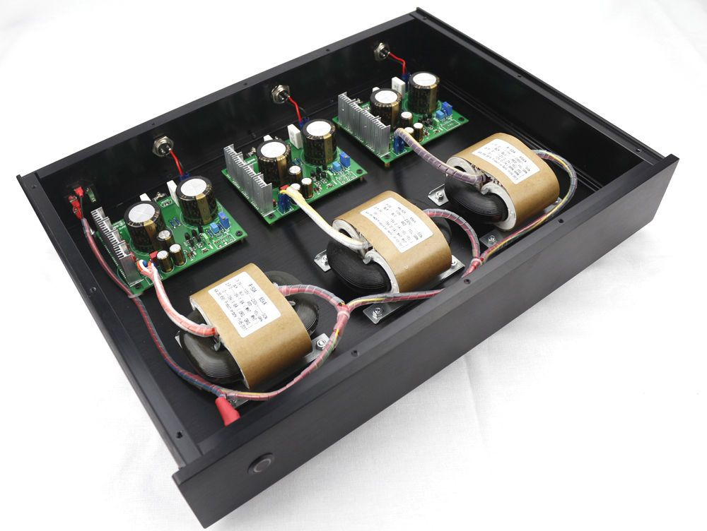 GZLOZONE Hi-end 3 Way S11 Ultra-low Noise Linear Power Supply DC5V + DC9V + DC12V LPS