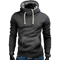 Hoodies Men 2017 Autumn Fashion Brand Pullover Solid Color Turtleneck Sportswear Sweatshirt Men'S Tracksuits Moleton S-XXL