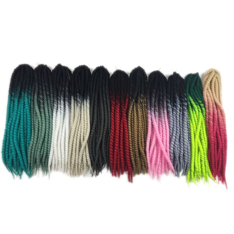 Luxury For Braiding Pre Twist Synthetic Hair 120g 12strands/pc 22