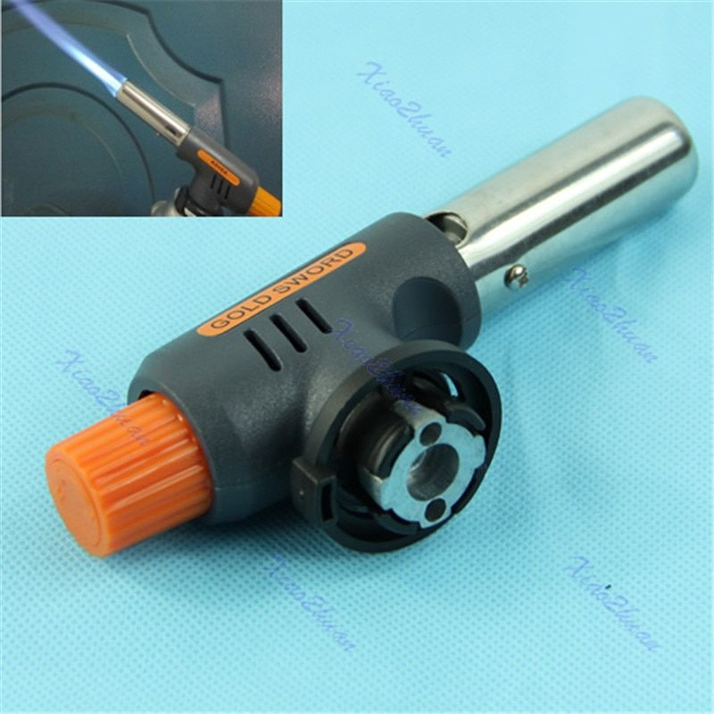 Flamethrower Gas Torch Butane  Auto Ignition Camping Welding BBQ Tool W15