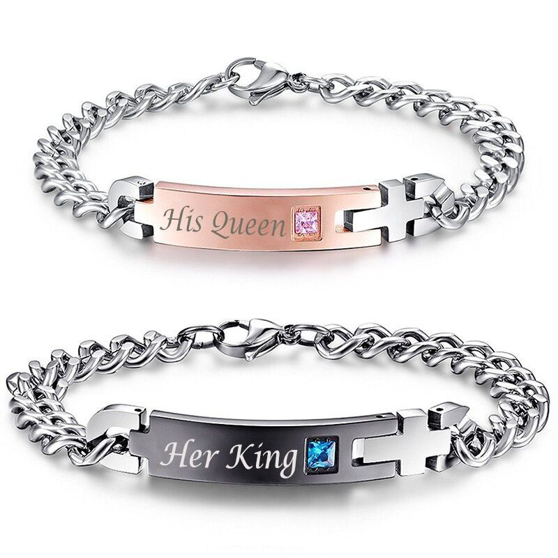 AZIZ BEKKAOUI Unique Love Gift Couple Jewelry for Women Men TOP Quality <font><b>Lover</b></font> Best Gift for Valentine's Day