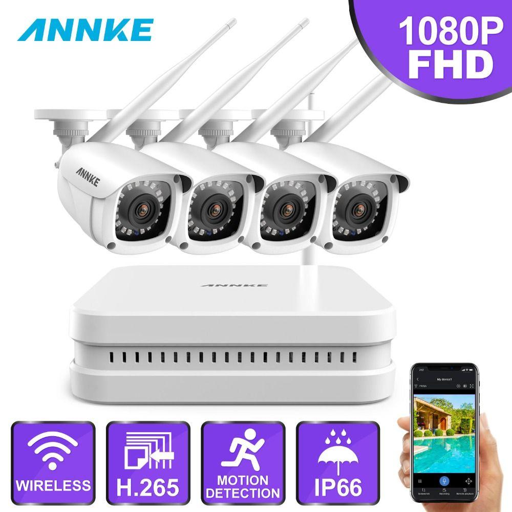 ANNKE 8CH FHD 1080 P WiFi NVR Video Überwachung System Mit 2MP Smart IR Kugel OutdoorWeatherproof IP Kamera 100ft Nacht vision
