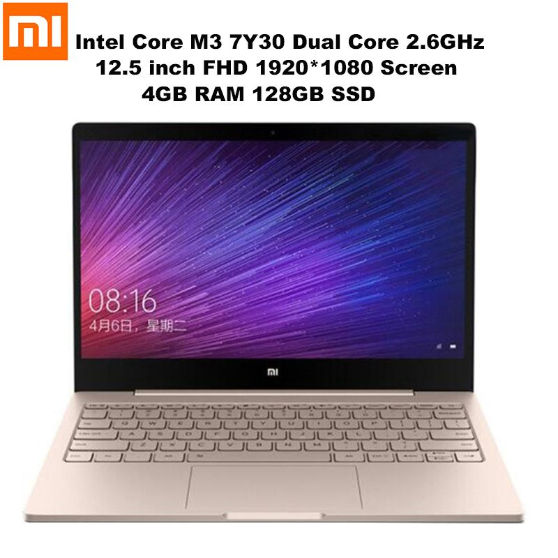 Xiao mi mi Notebook Air 12,5 ''FHD Bildschirm Windows 10 Intel Core M3 7Y30 Dual Core 2,6 GHz 4 GB + 128 GB HD mi Dual Band Wifi Laptops