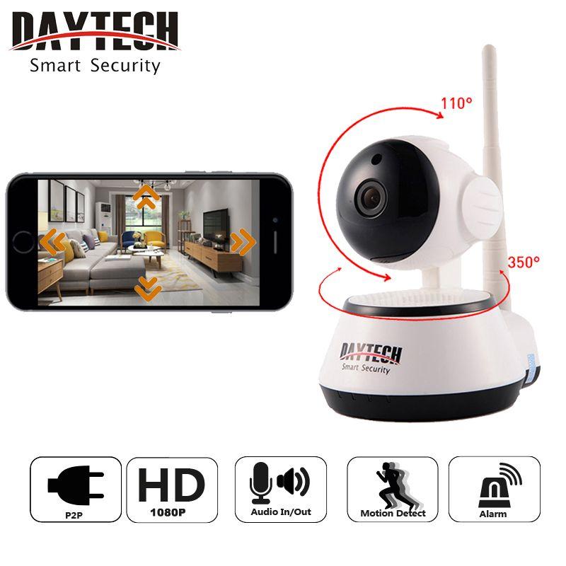 Daytech WiFi caméra IP caméra de sécurité à domicile 1080 P Vision nocturne infrarouge deux voies Audio bébé moniteur sans fil réseau DT-C8815-2MP