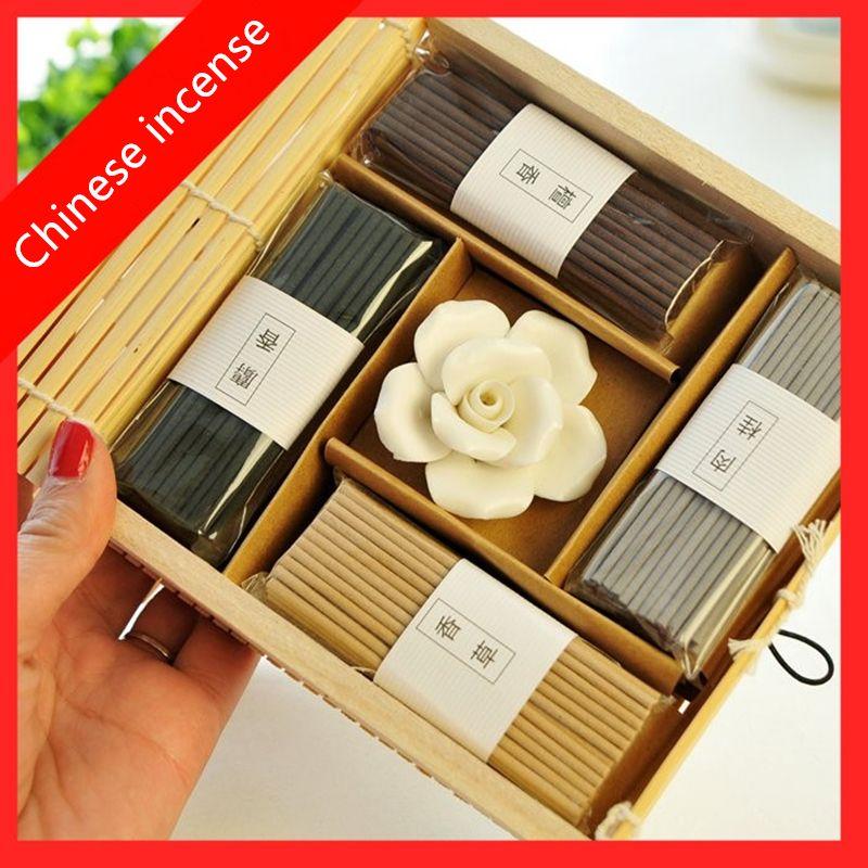 PINNY encens chinois Vintage rideau Rose bâton d'encens méditation vous aider à dormir parfum Air frais aromathérapie