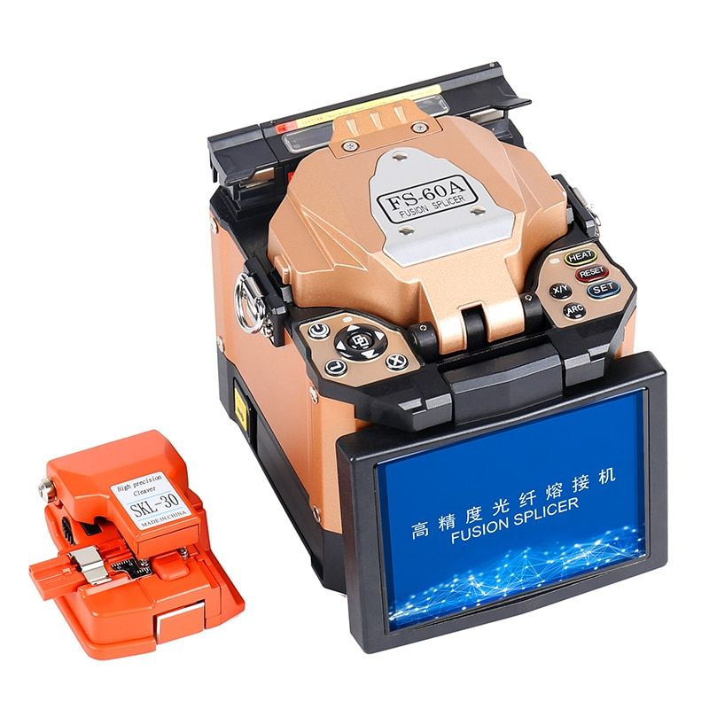 New product FTTH Fiber Optic Splicer Fiber Optic Fusion Welding Splicing Machine FS-60A Fiber Optical Fusion Splicer