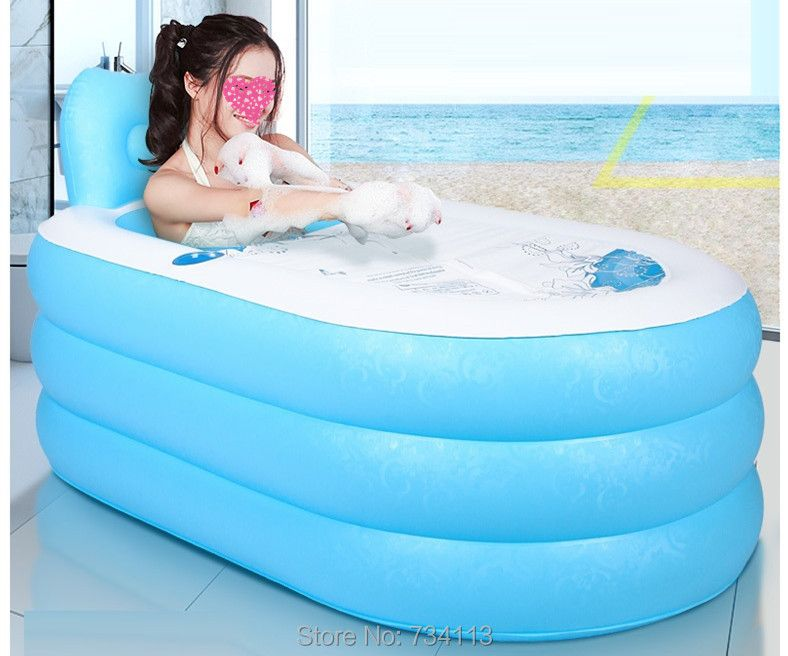 Portable inflatable tub Adult inflatable bathtub bath bucket swimming pool thickening bath bucket bathtub folding SPA bathtubs