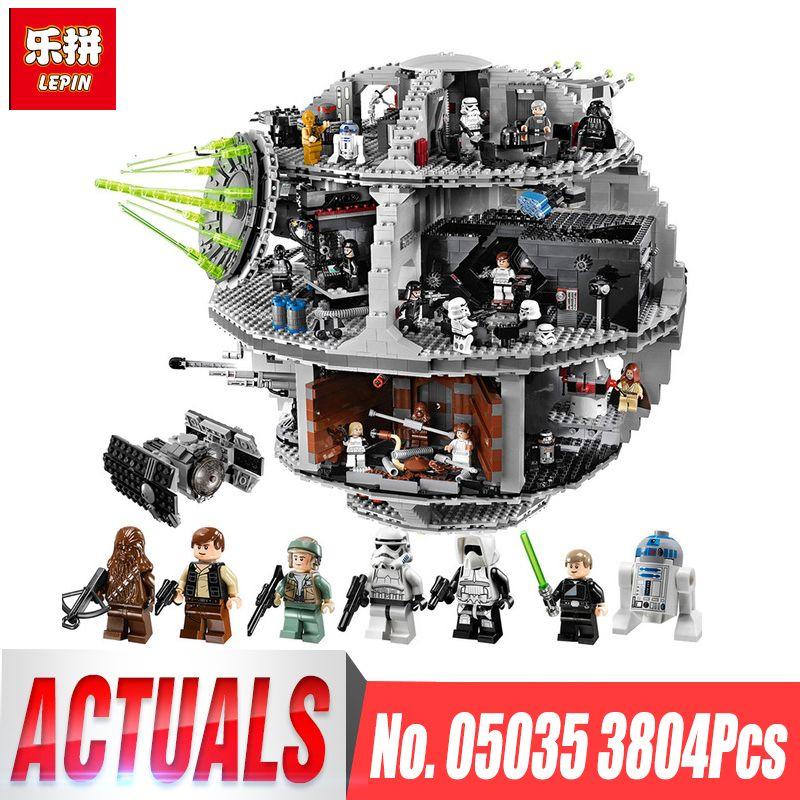 LEPIN 05035 3804pcs Death Star Building Wars Block Self-Locking Bricks Toys Kits legoing 10188 Educational Toy for Children Gift