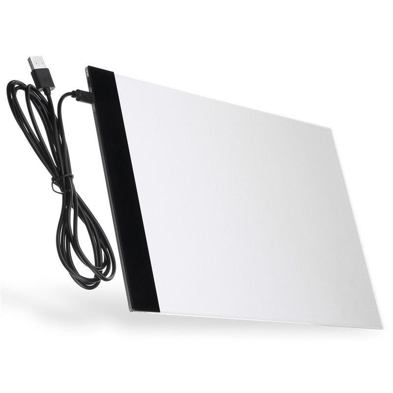 A4 FÜHRTE Künstler Tattoo Schablone Bord Licht Box USB Nachtlicht Lampe Acryl Tracing Reißbrett Pad Tabelle DC5V 1A