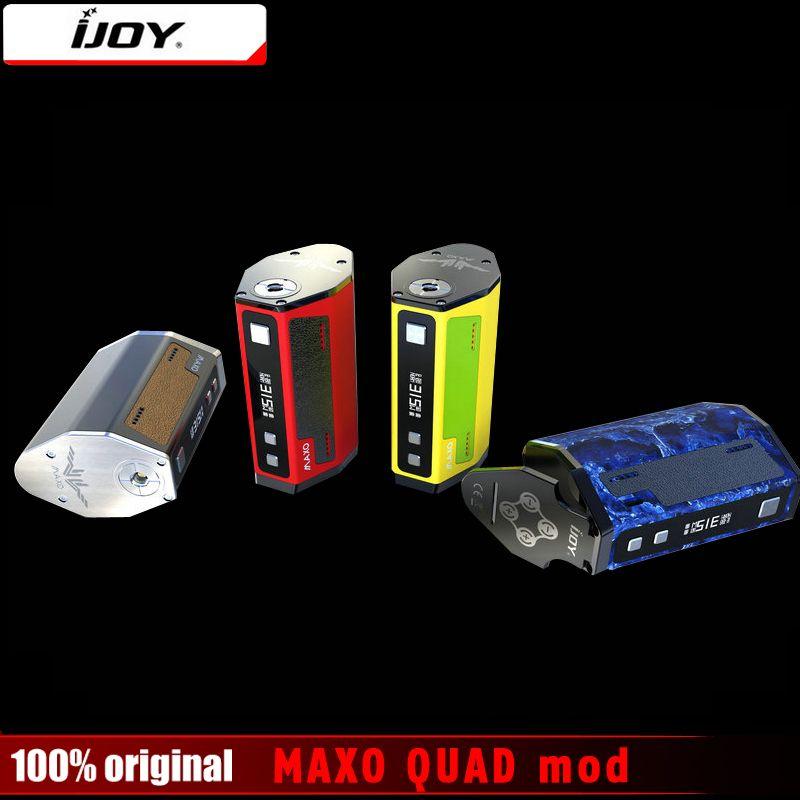 Original IJOY MAXO QUAD 18650 TC Box Mod 315 Watt Vape Firmware-upgrade Elektronische Zigarette Temperaturregelung Mods