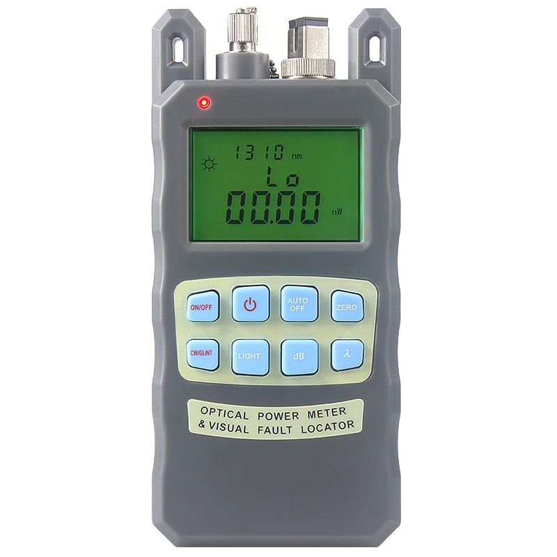 All-in-one Fiber optique power meter-70 à + 10dBm et 10 mw 10 km Fiber Optique Câble Tester Visual Fault Locator