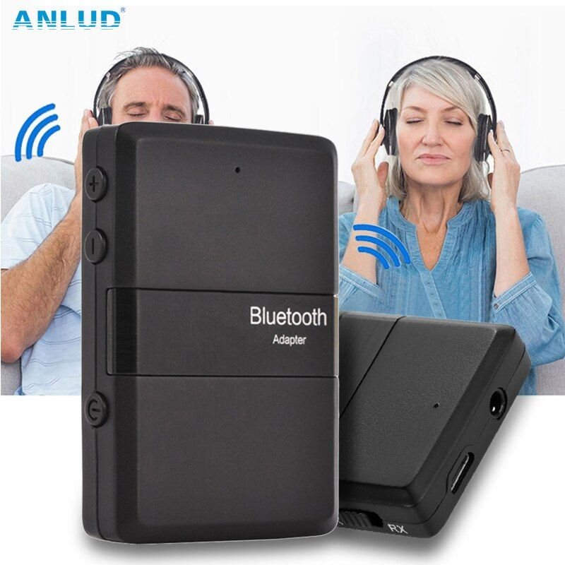 Bluetooth 4.1 аудио передатчик Bluetooth приемник 3.5 мм аудио адаптер Музыка стерео для дома автомобиля ТВ Планшеты PC мобильного телефона Динамик