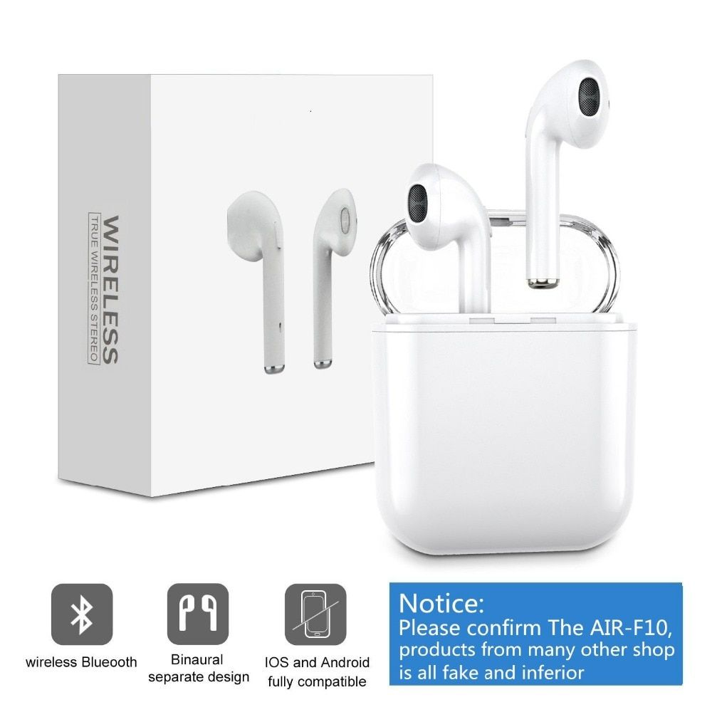 Wireless headsets Headphones, Double Ear mini bluetooth Earbuds Truewireless Air Pods Earphone Earpiece for apple iphone Android