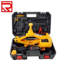 Переносной Автомобильный домкрат набор желтый цвета 2 функции Электрический scissor автомобильный разъем