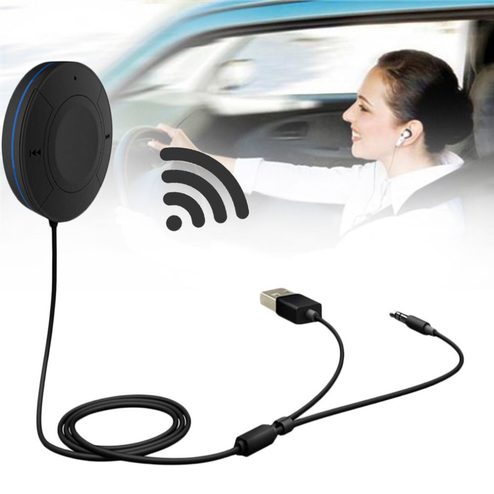 Professional Hands Free Call Car Universal AUX Wireless Bluetooth Audio Receiver Bluetooth 4.1+EDR Black Hot Sale