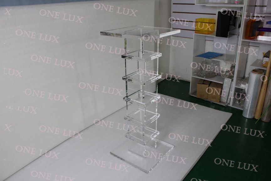 Clear Acrylic Pedestal,Quality Lucite sculpture stand,Square Console Tables ONE LUX
