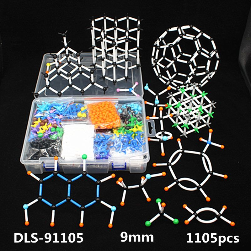 1105pcs 9mm large set Molecular Model Kit,organic Inorganic Crystal structure,Chemistry teaching model for teacher & <font><b>students</b></font>