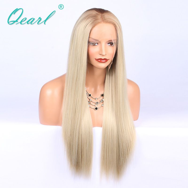 Small Cap human hair full lace wig 4#/60# two tone natural hairline Brazilian Remy real hair lace wigs 150% density Qearl