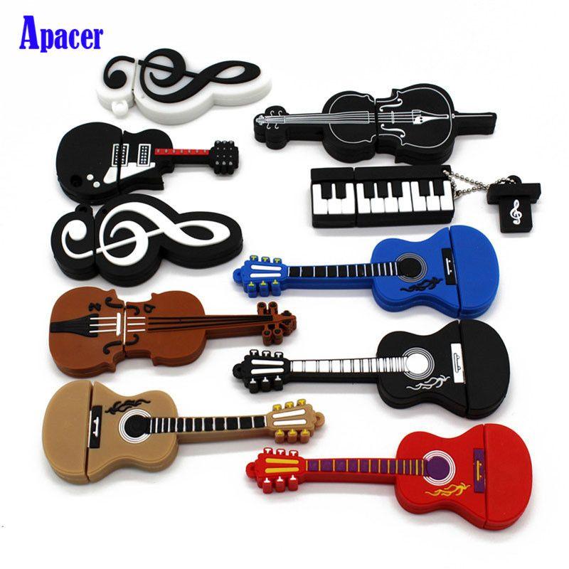 Apacer 10 styles Musical Instruments Model pendrive 8gb 16gb 32gb 64gb USB flash drive violin/piano/guitar